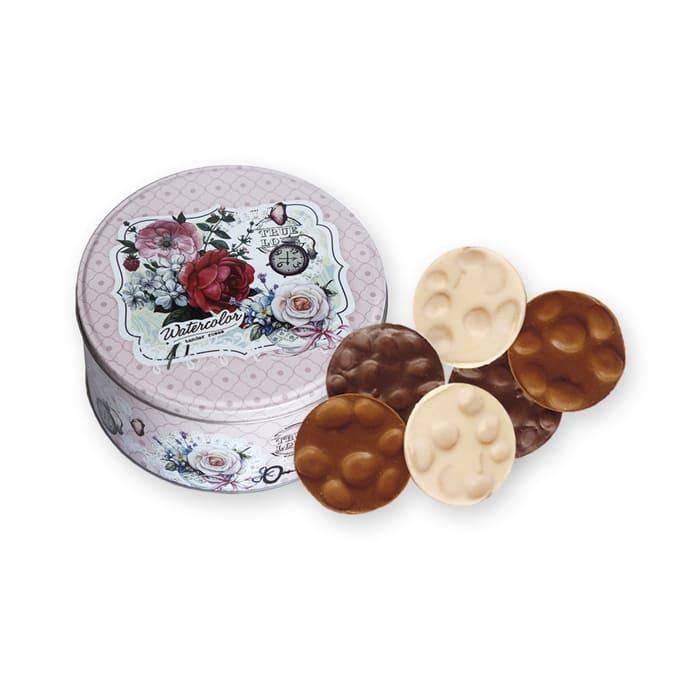 Bote Medallones Chocolate Con Almendras 250g