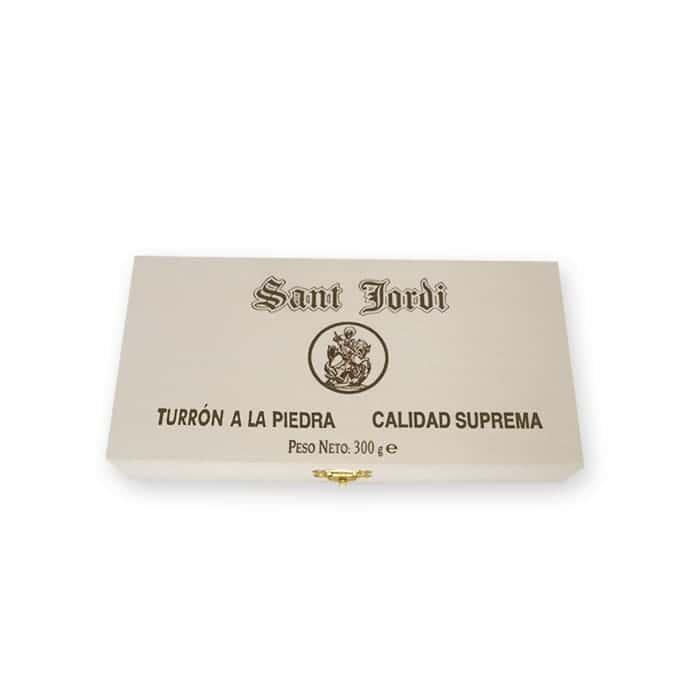 Turrón A La Piedra Caja De Madera 300g