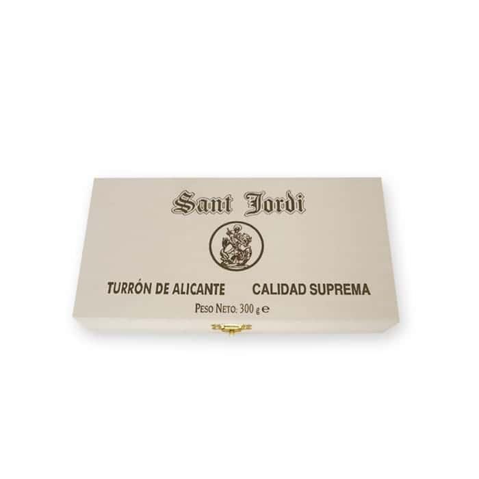 Turrón Alicante Caja Madera 300g