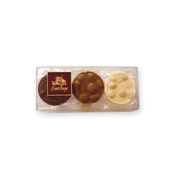 medallones chocolate almendras