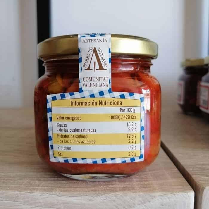 Información nutricional del aspencat que puedes comprar