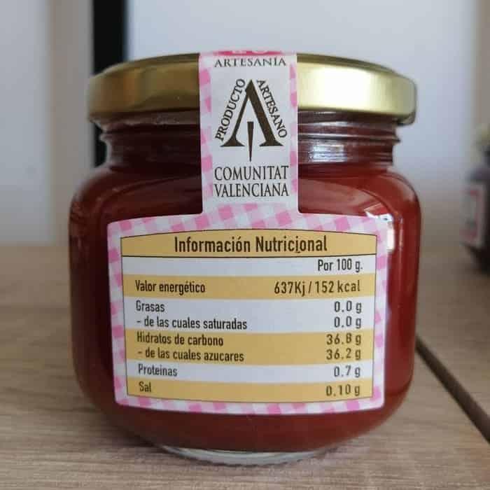 Información Nutricional De La Mermelada De Tomate Que Puedes Comprar
