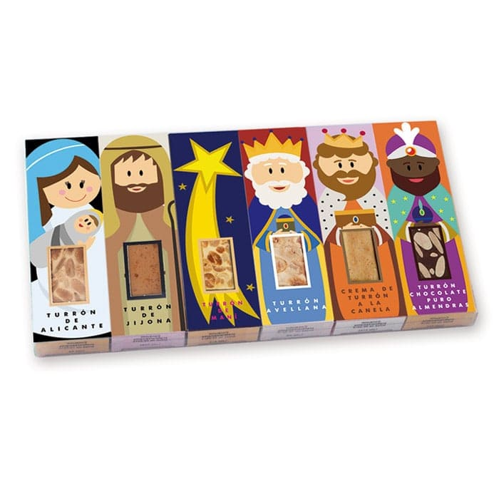 Set turrones navidad reyes magos