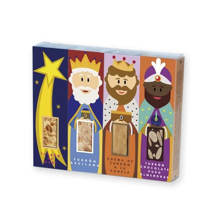 Pack turrones de los reyes magos belén