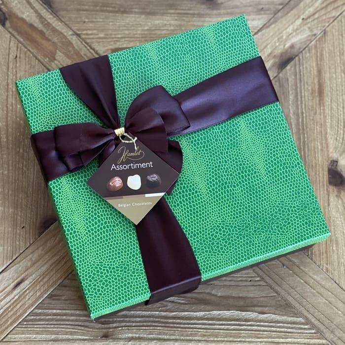 Caja chocolate surtidos verde