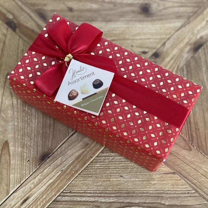 caja roja de bombones